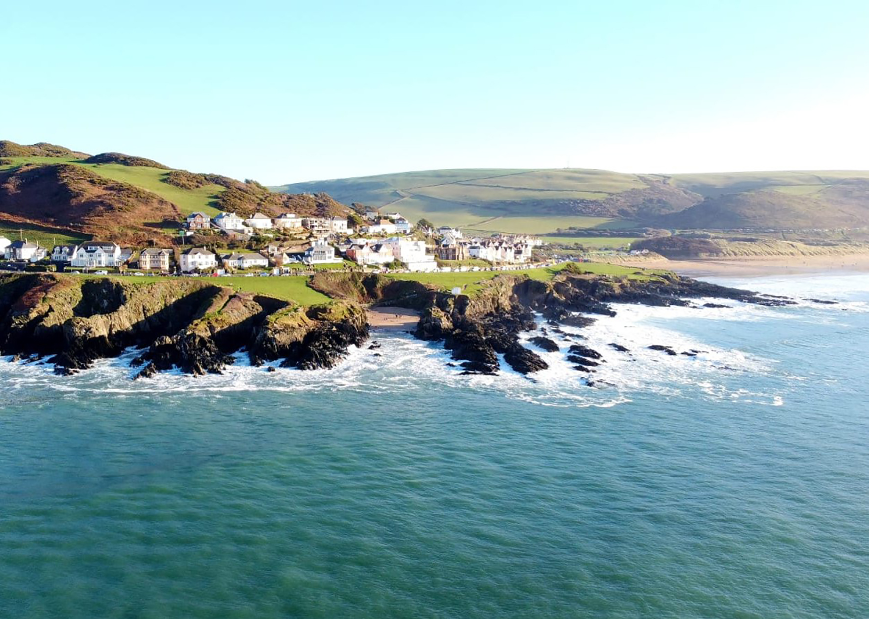 Photography print Woolacombe aerial I