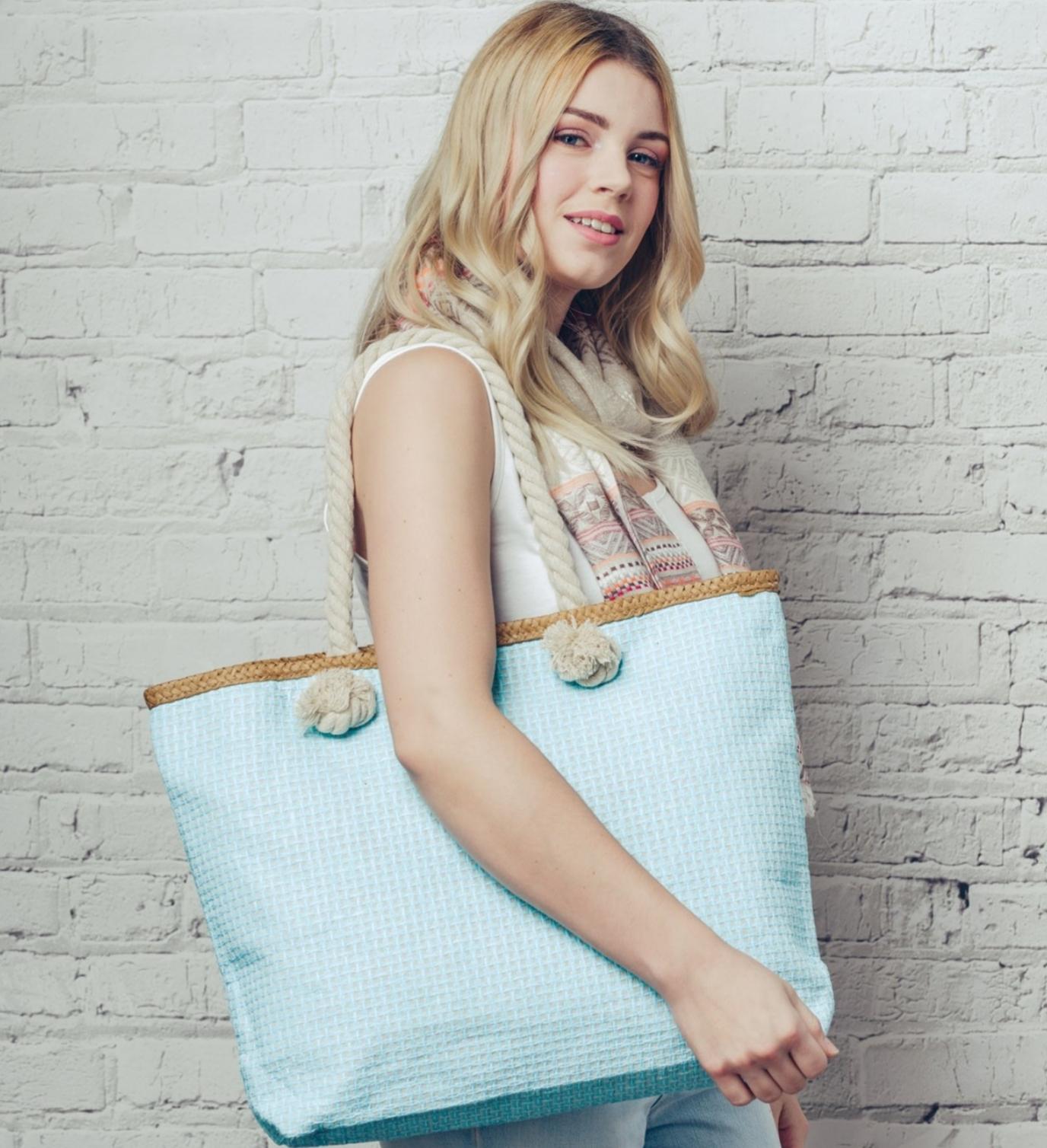 Beach bag. Turquoise