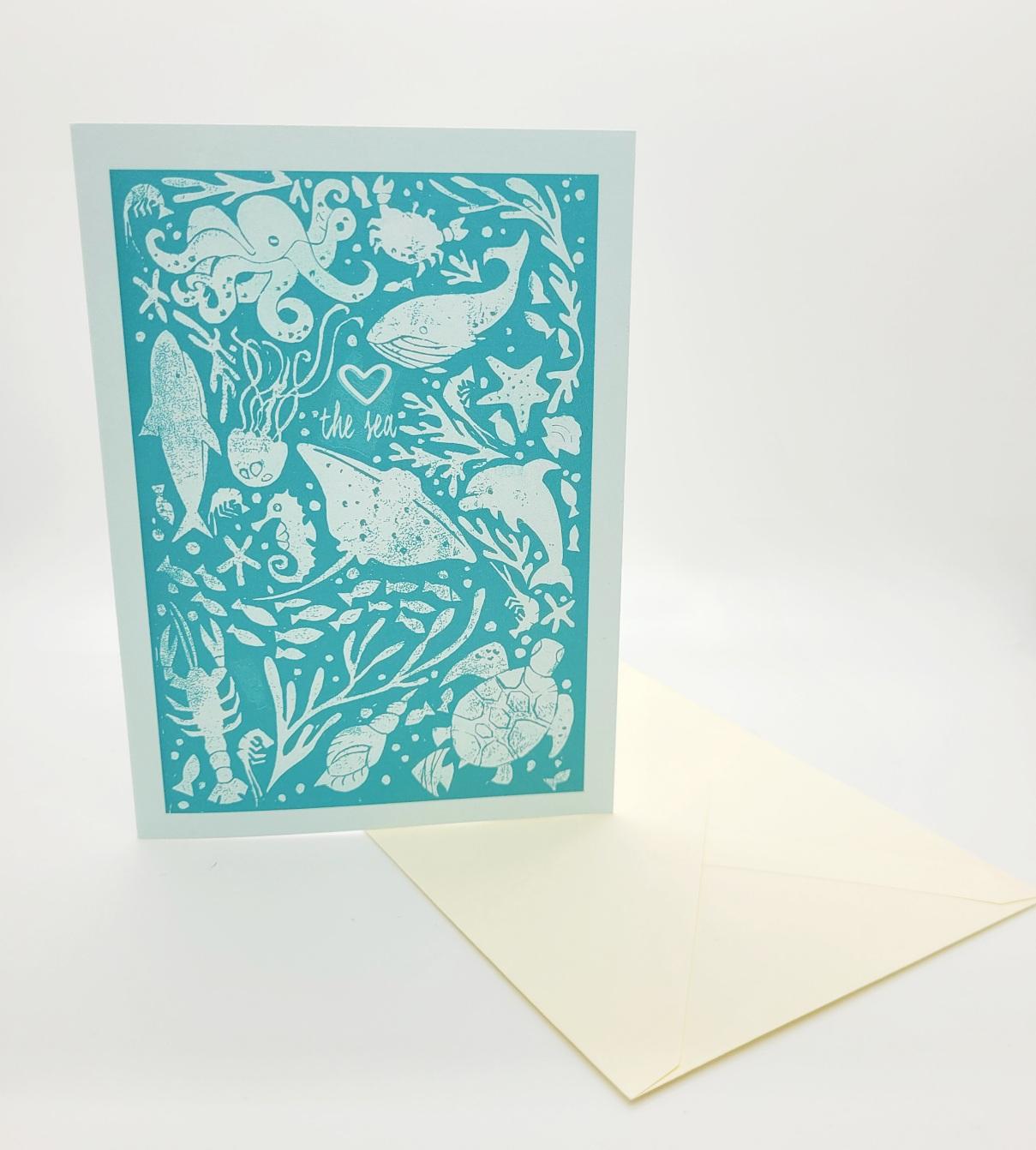 Greetings card. Love the sea