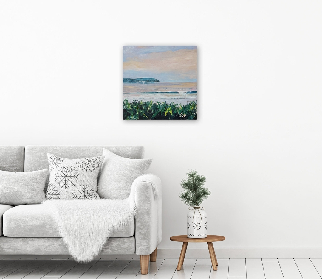 Art. Original painting by Jo Allum 'woolacombe dusk'