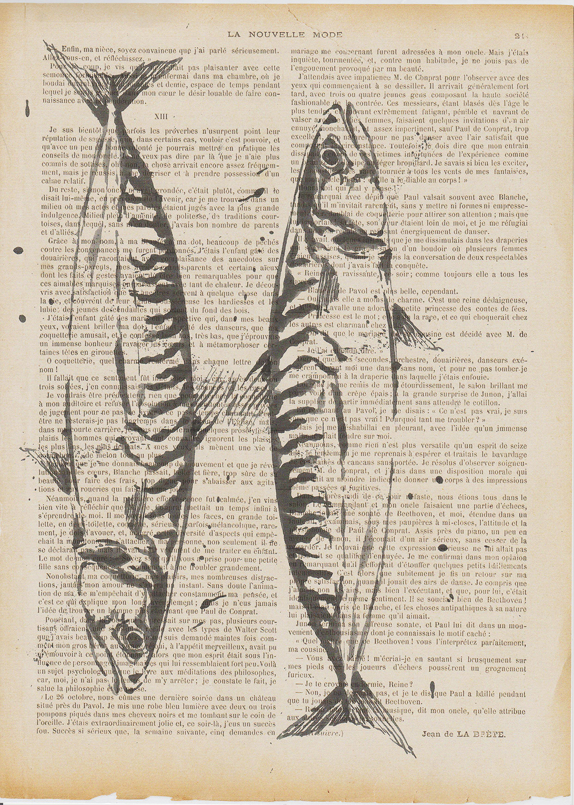 Art print. Mackerel