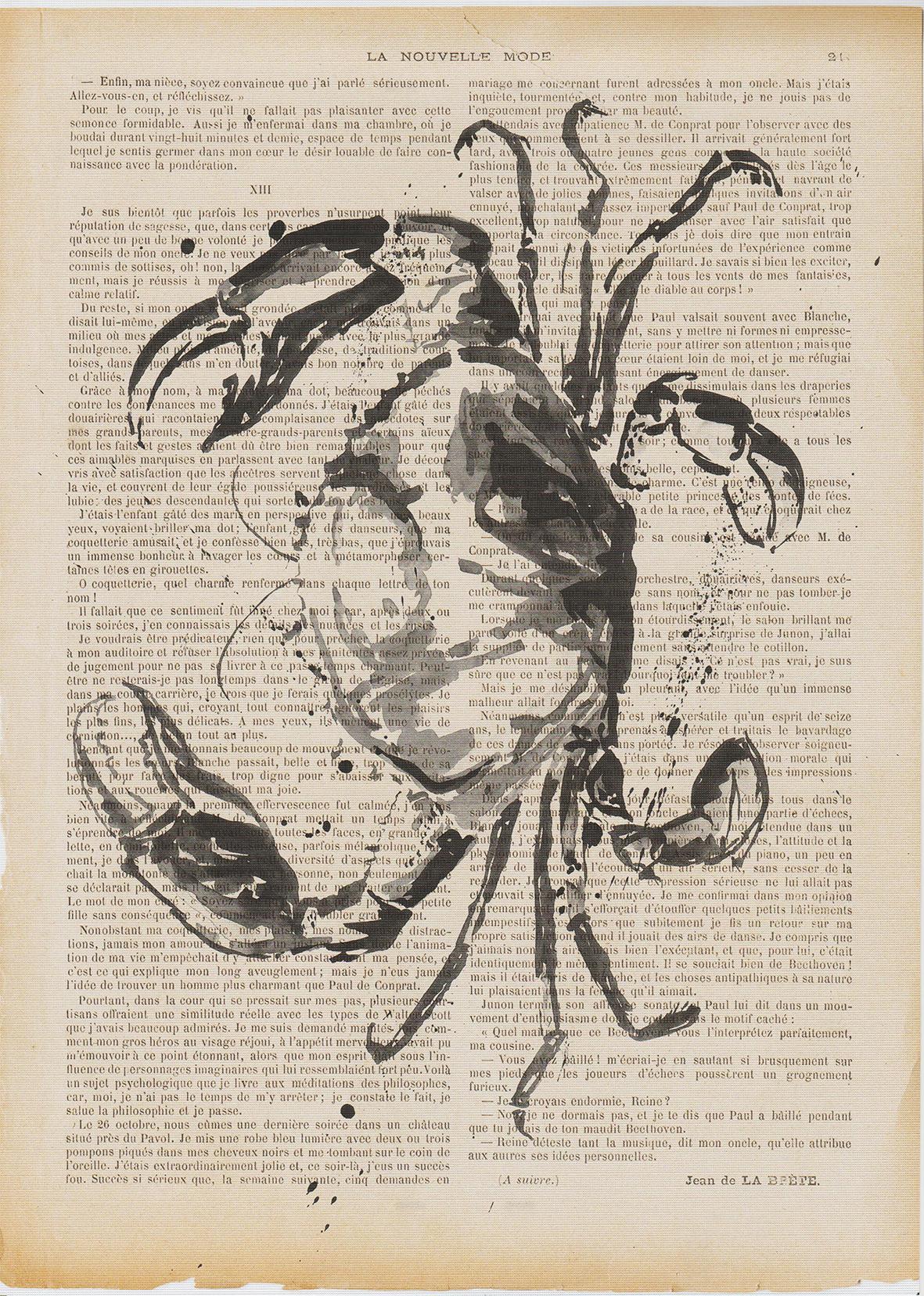 Art print. Crab