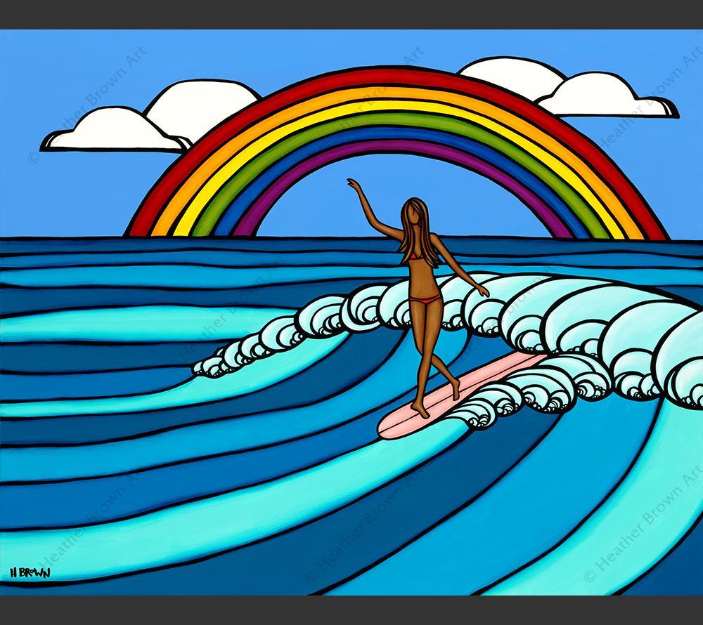 Heather Brown Rainbow surf