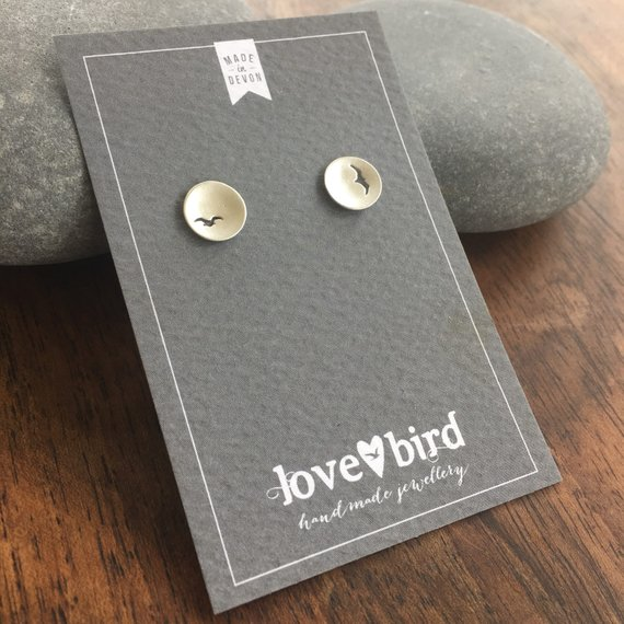 Handmade Sterling Silver Gull Earrings