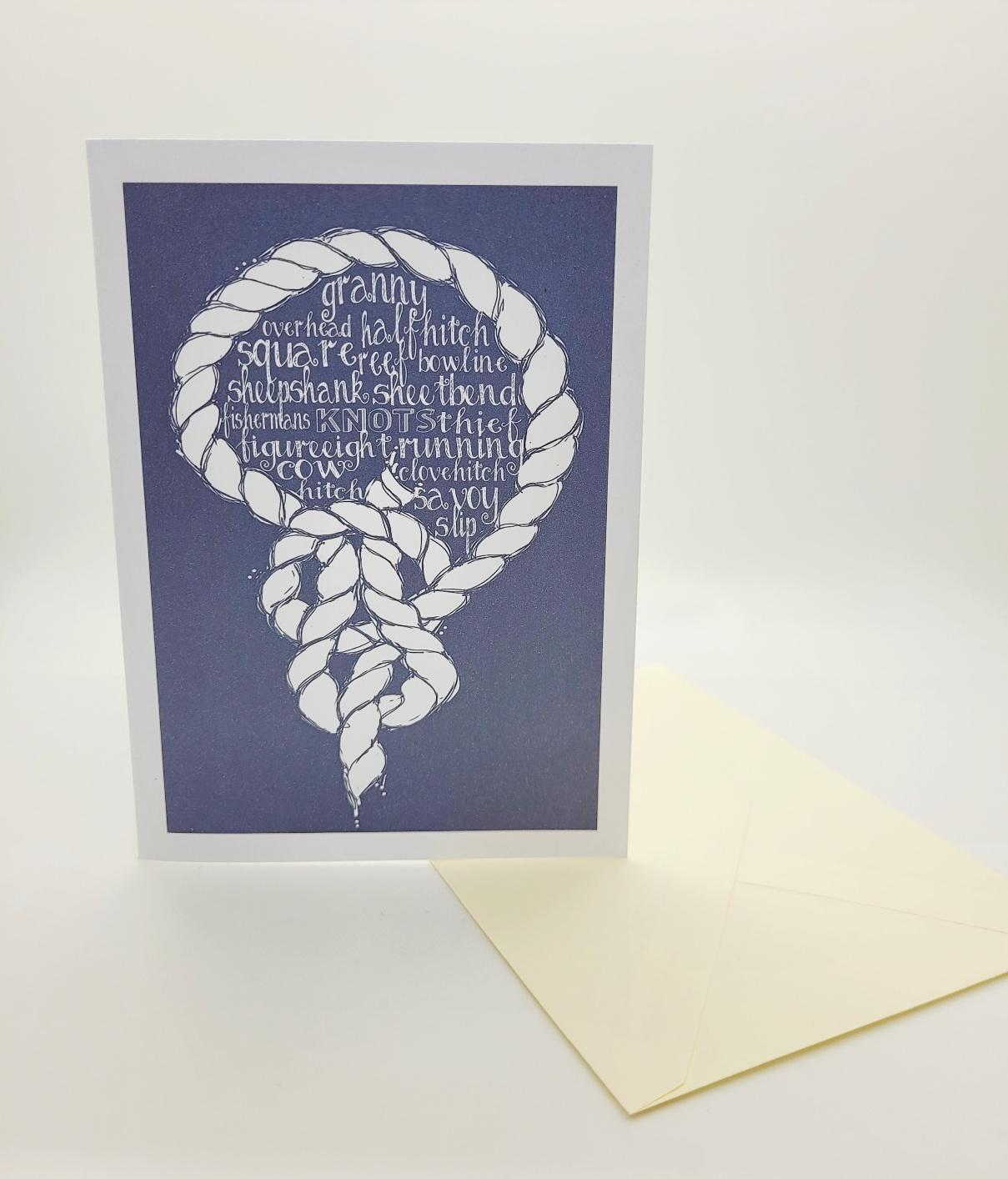 Greetings card. Knots