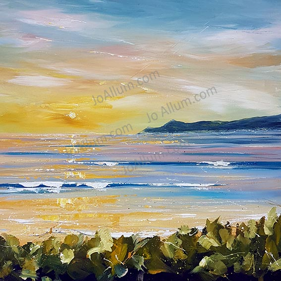 Art. Original painting 'Colours of summer sunset' by J Allum