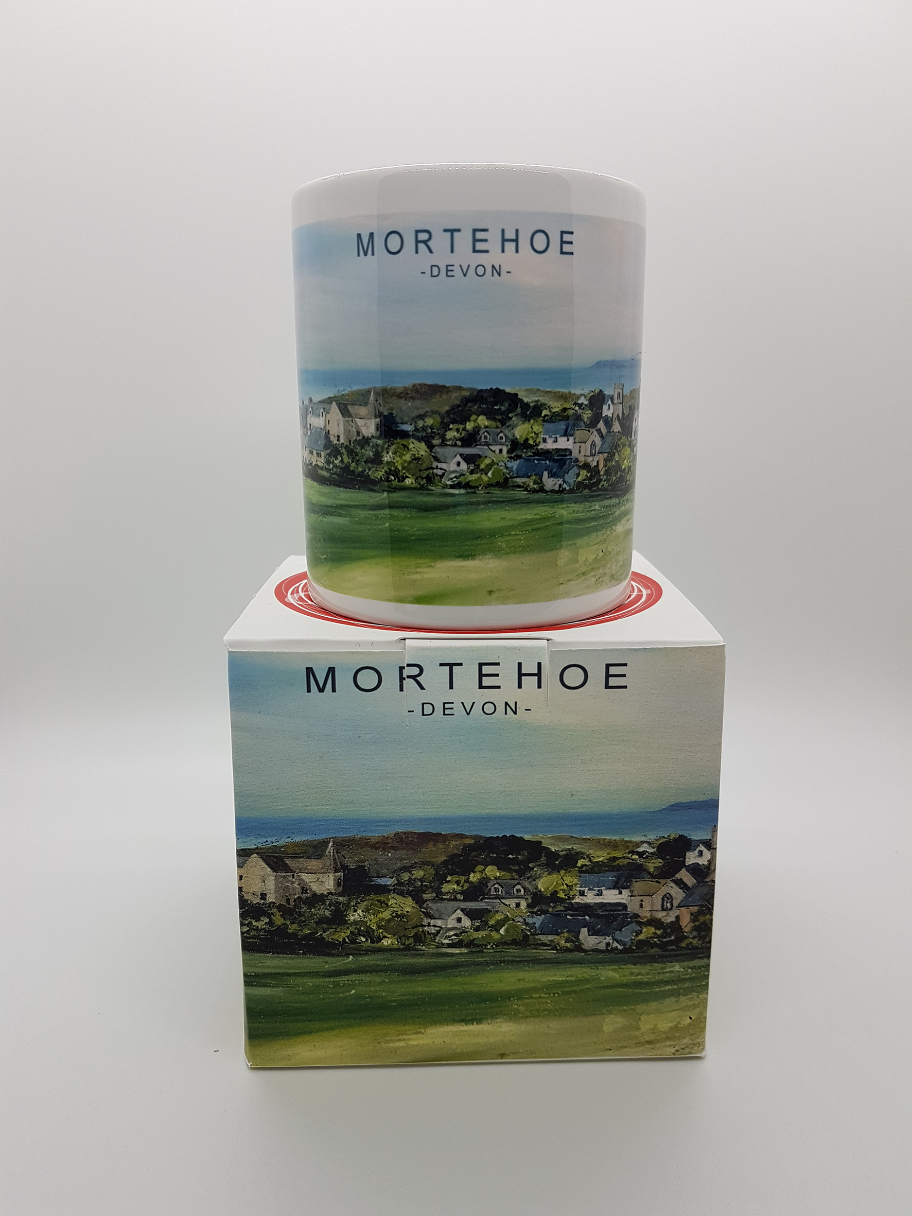 Mug featuring the village of Mortehoe