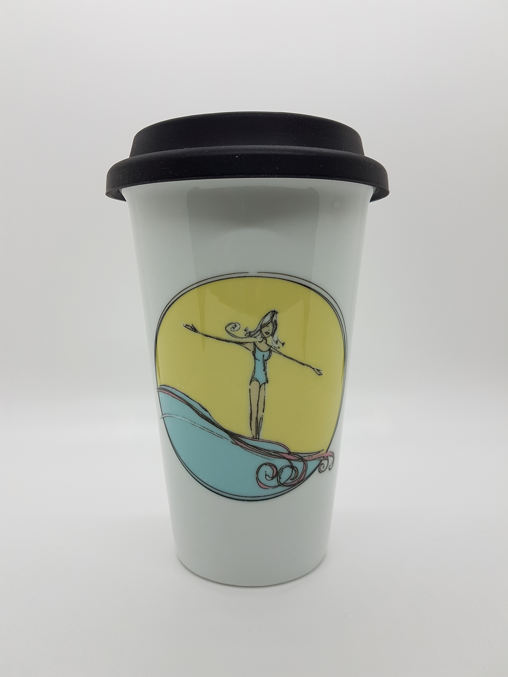 Mug. Surf girl thermal travel mug