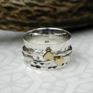 Sterling silver spinning rings