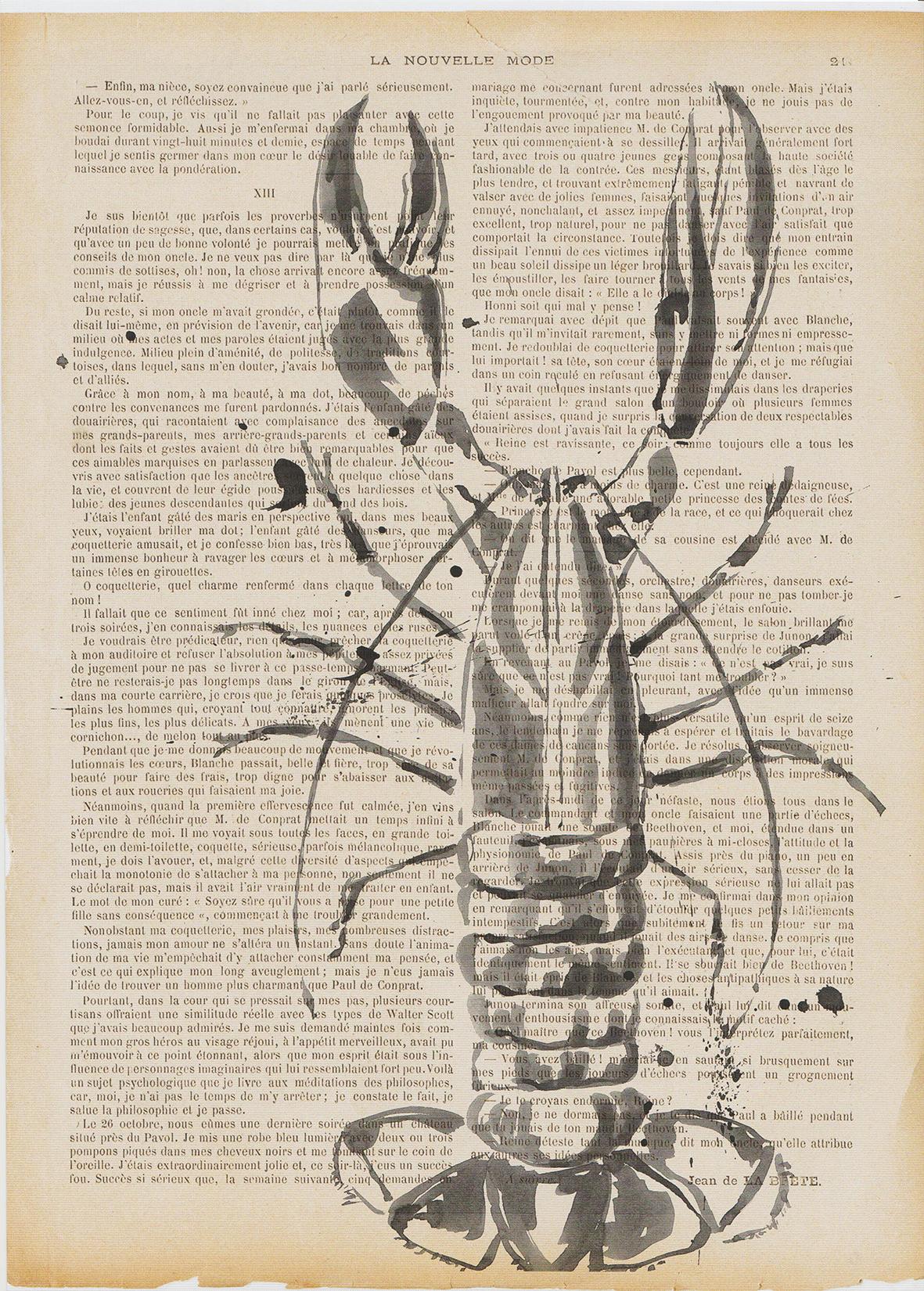 Art print. Lobster