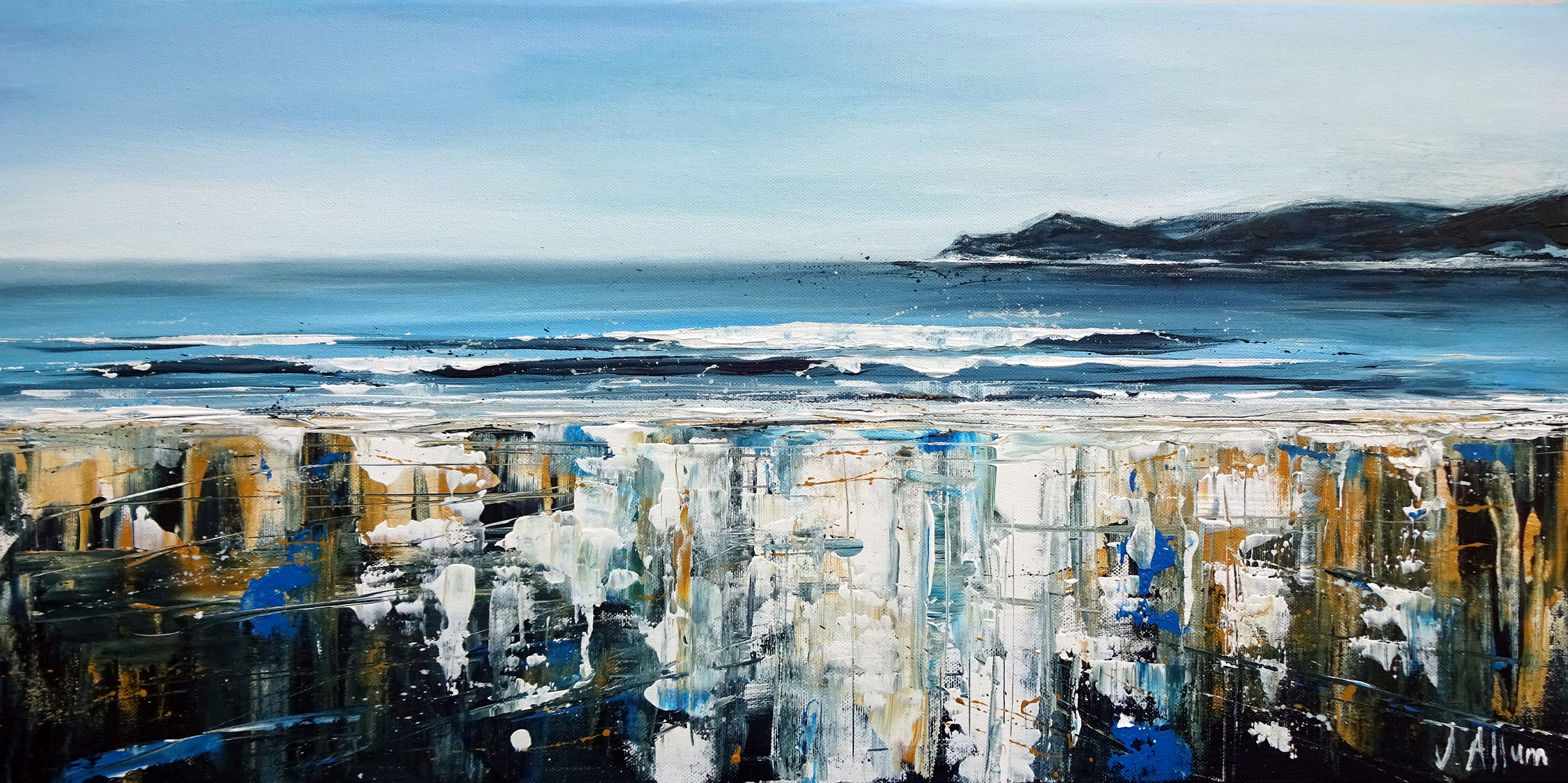 Art. Original painting by Jo Allum 'Morte blues'
