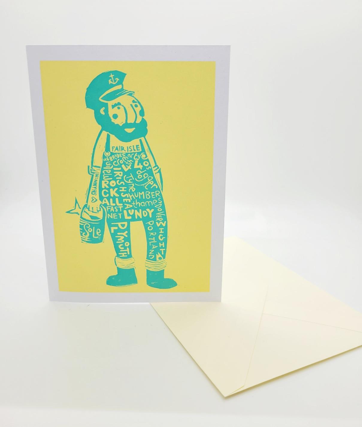 Greetings card. Winston