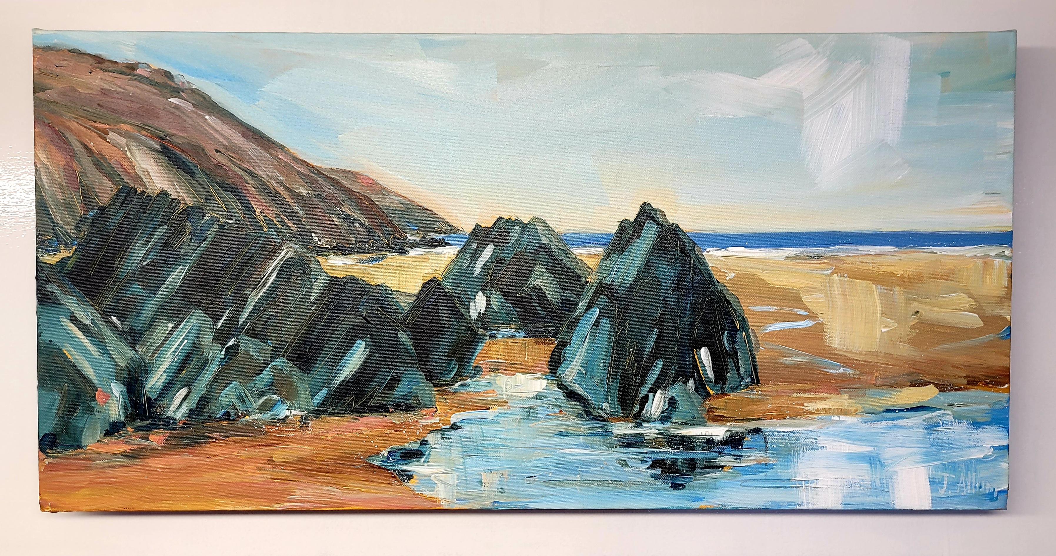 Art  original painting by J Allum. Putsborough sands