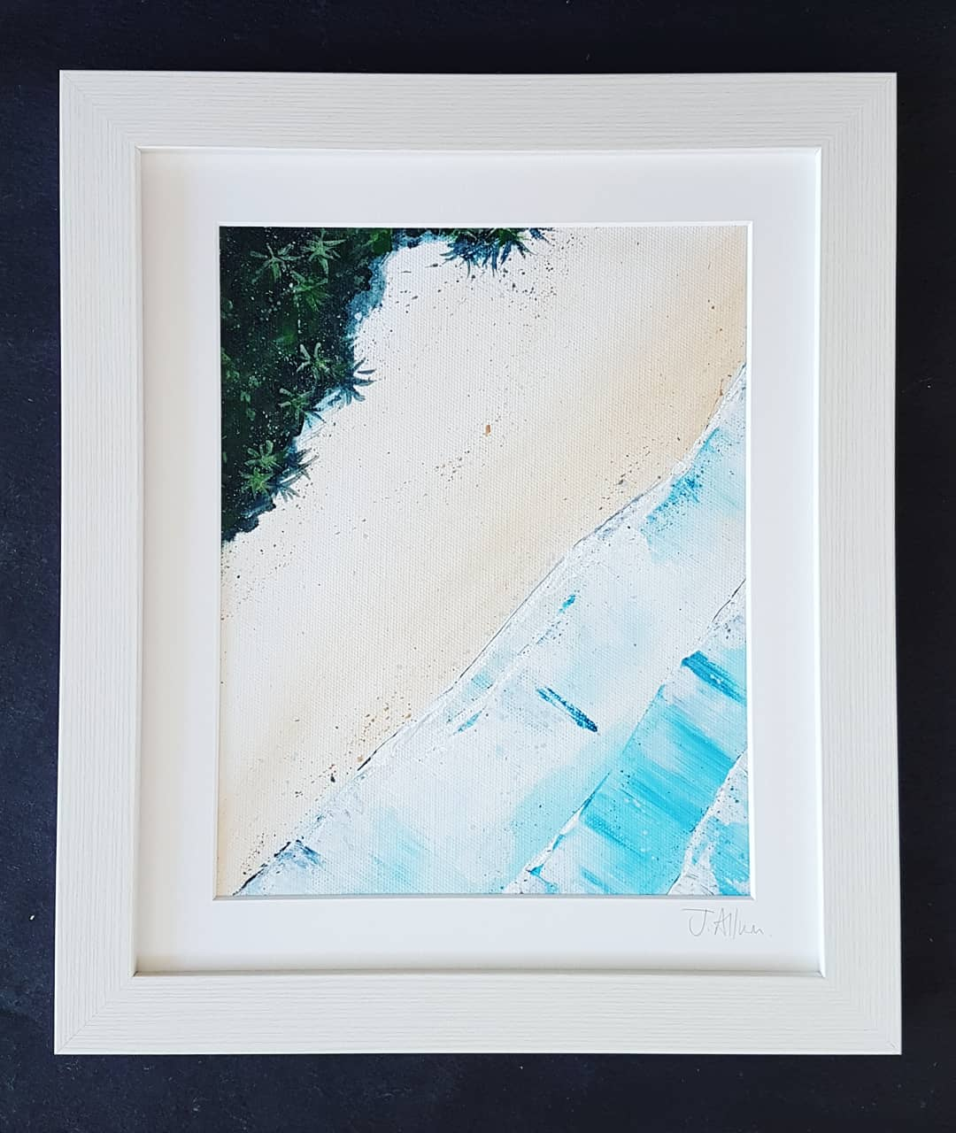Tropical aerial CRII painting on canvas