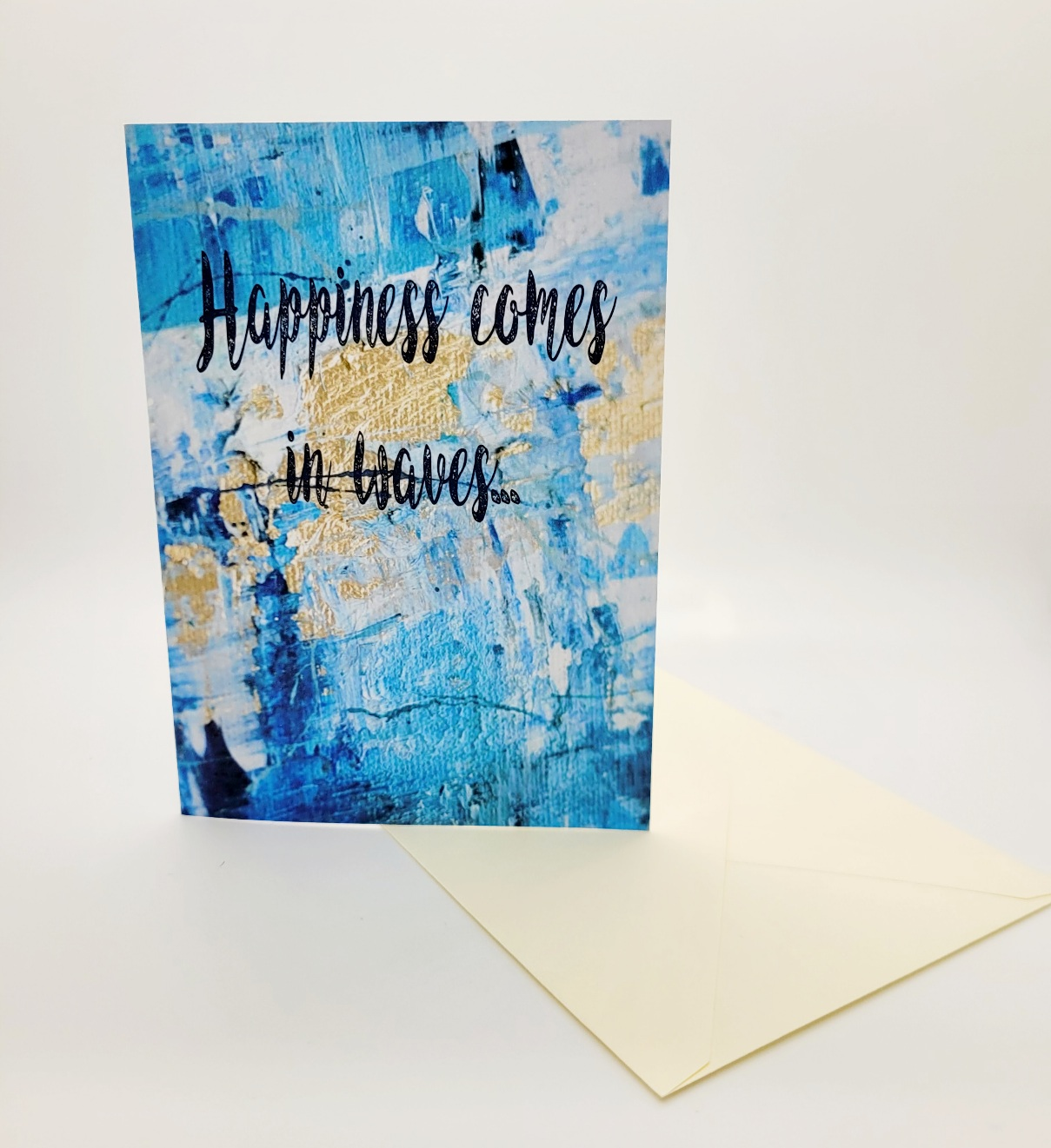 Greetings card. Happiness