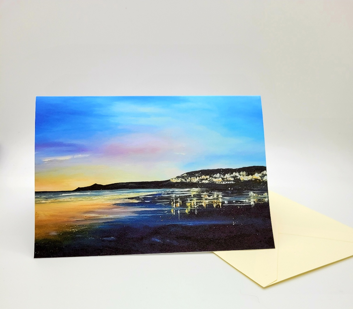 Greetings card. Woolacombe evening