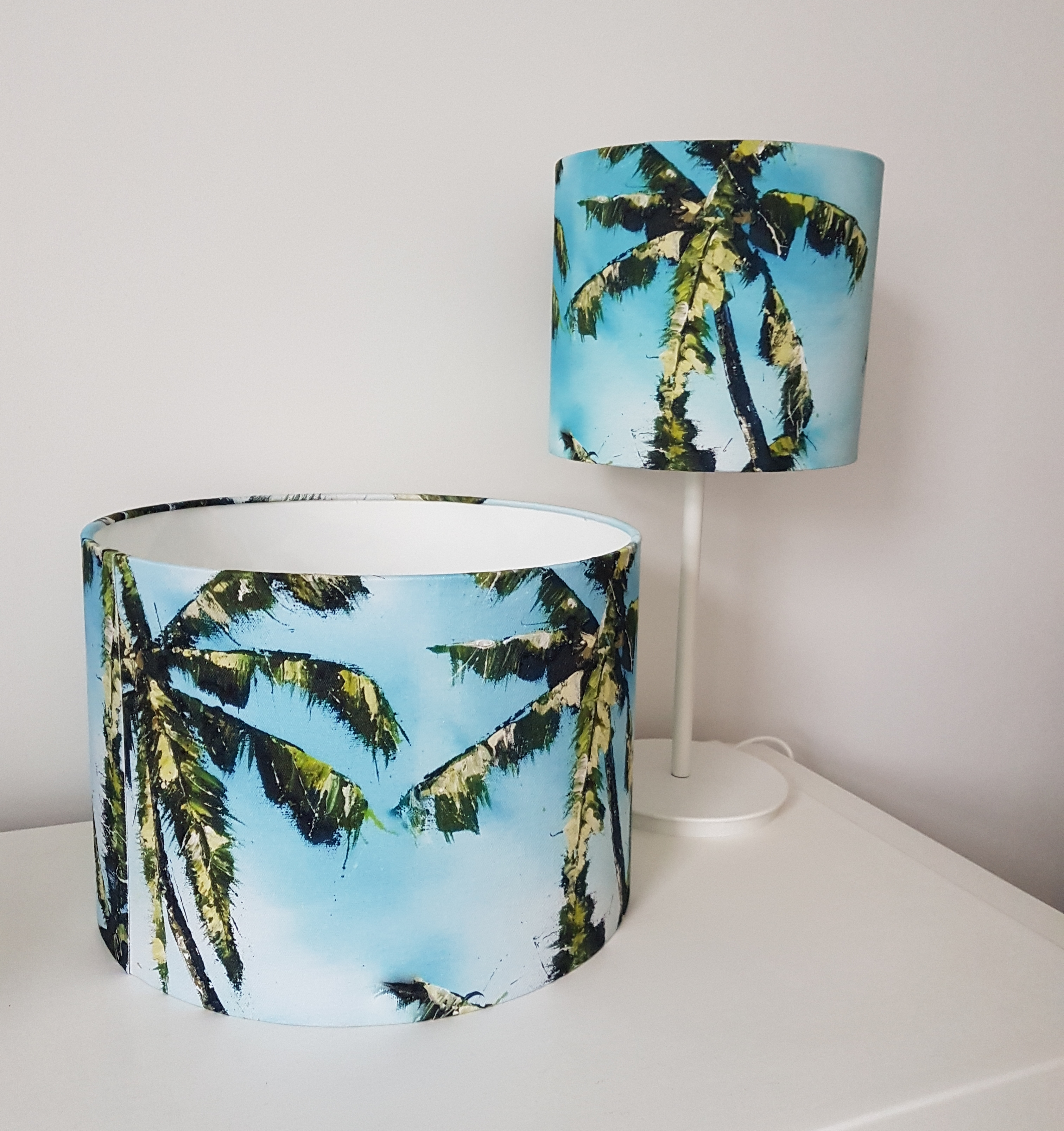 Lampshade. Palm tree
