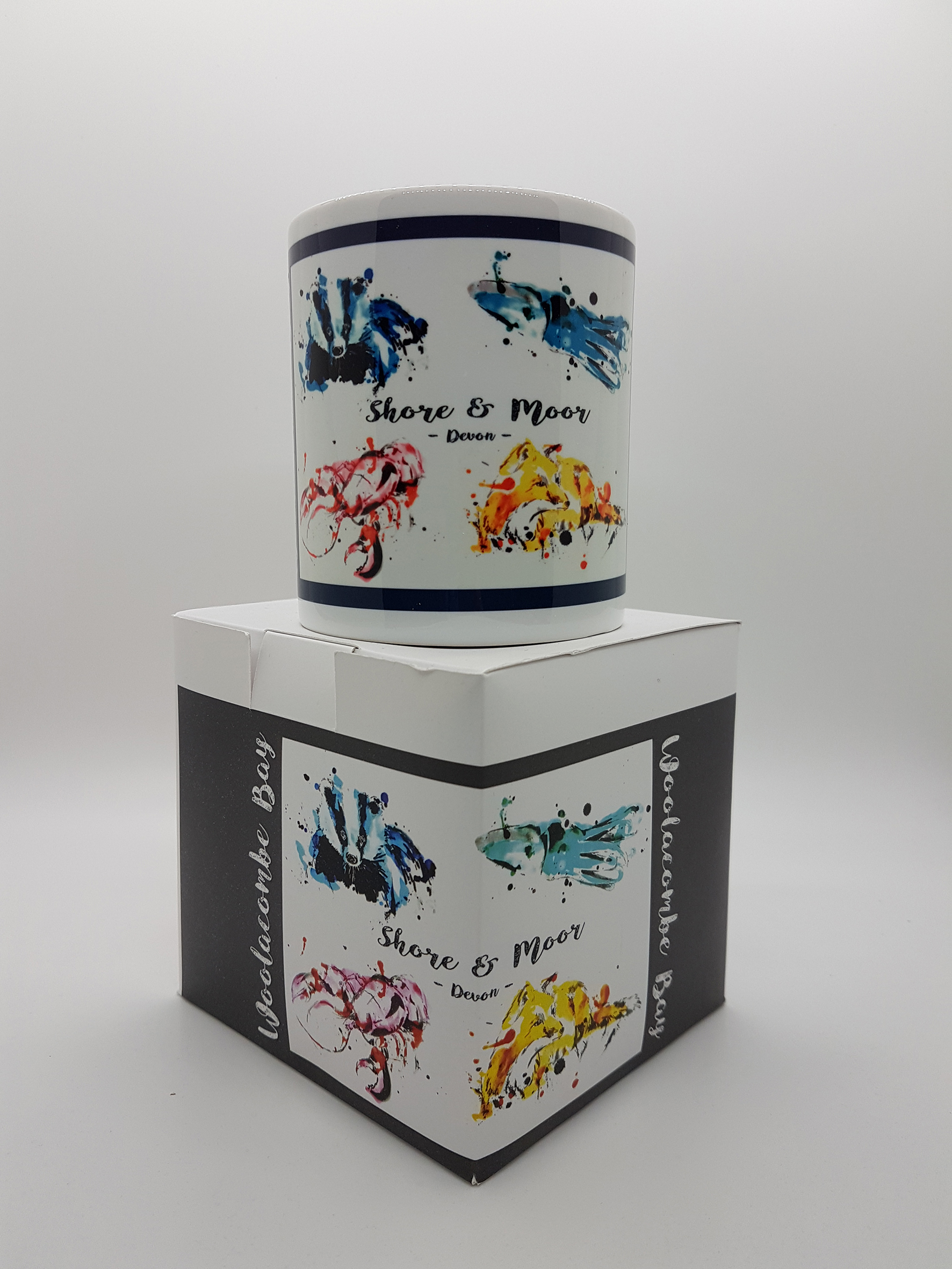 Mug featuring shore and moor creatures