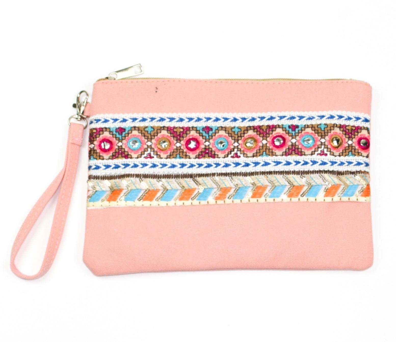 Boho style clutch bag