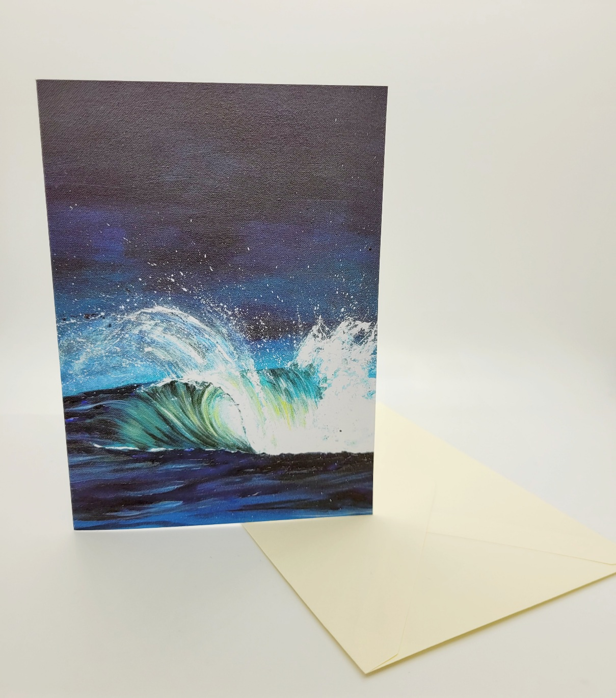 Greetings card. Wave
