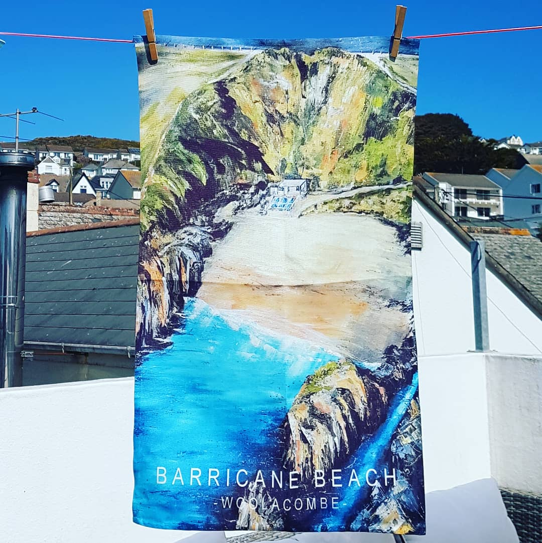 Tea towel Barricane beach