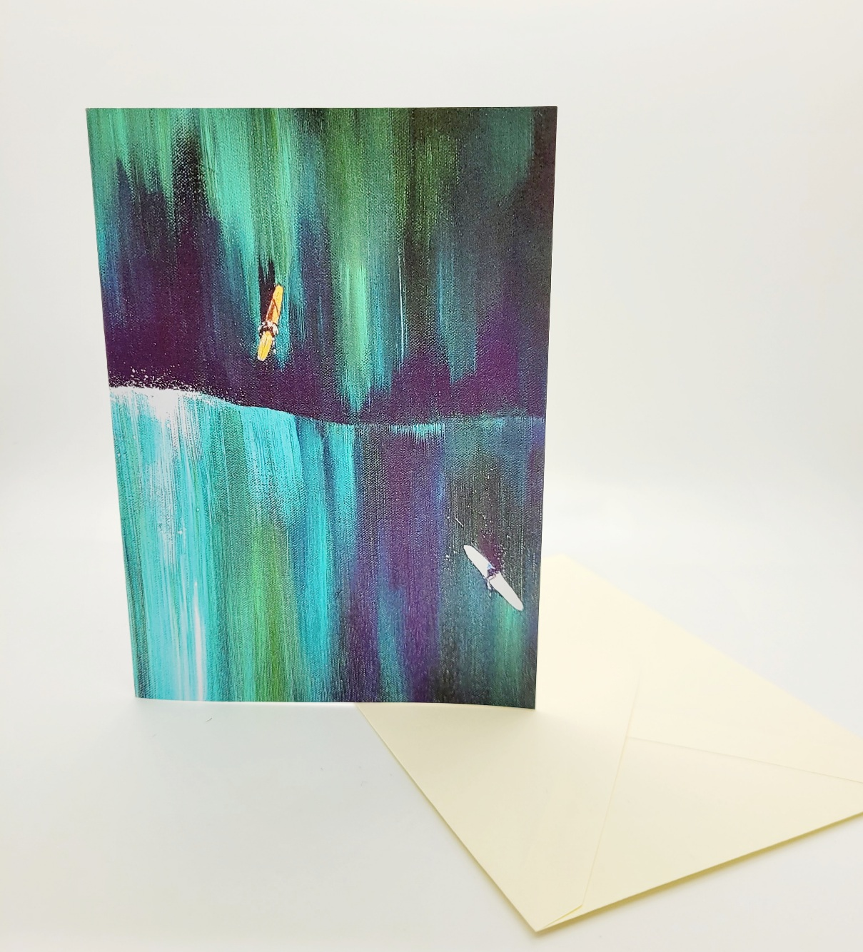 Greeting card. Aerial surfers II