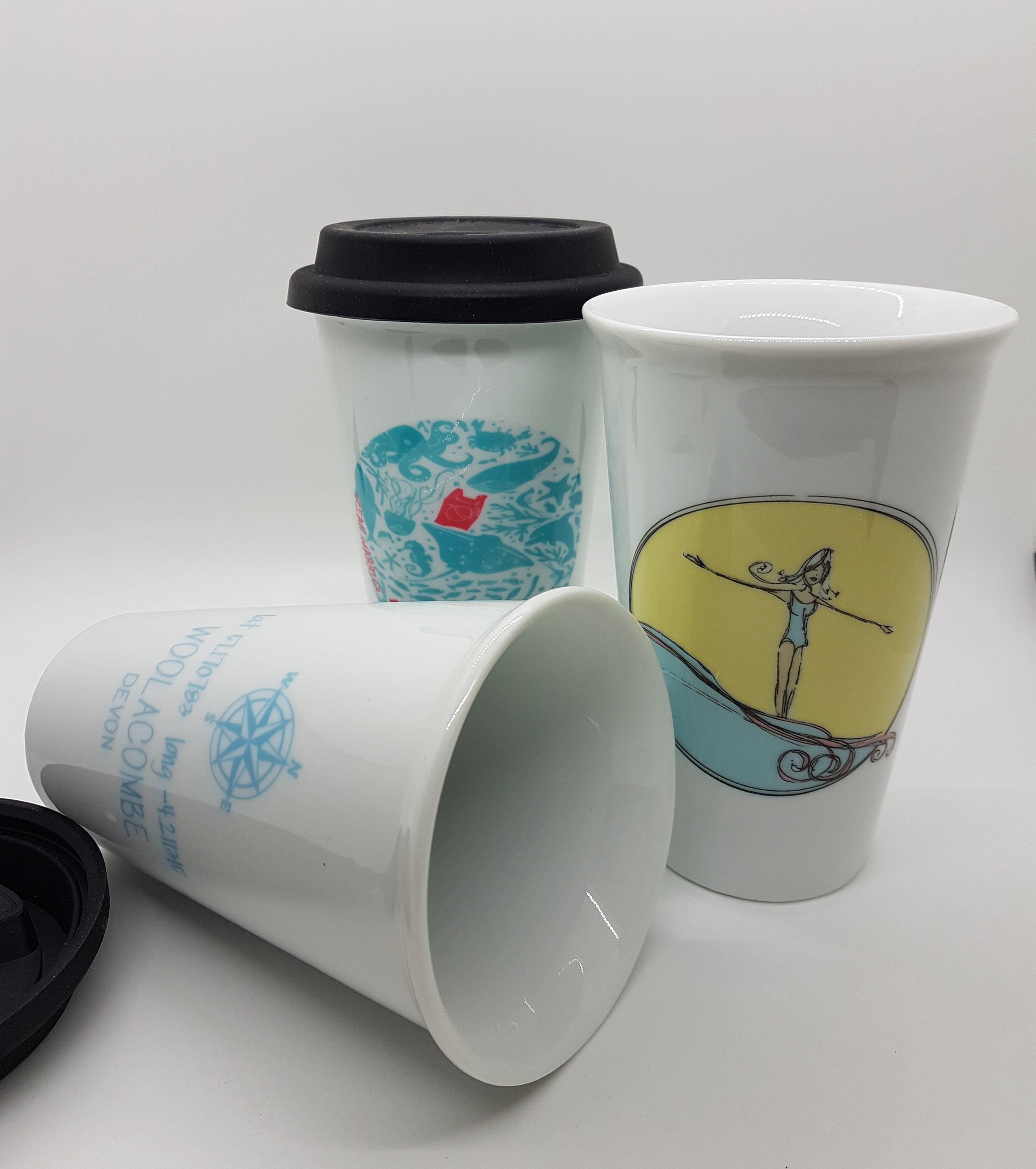Mug. Woolacombe ceramic travel mug