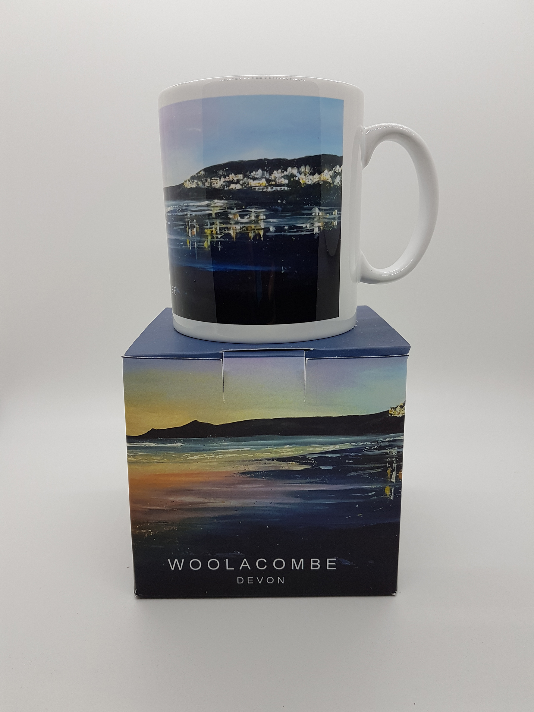 mug featuring a Woolacombe evening