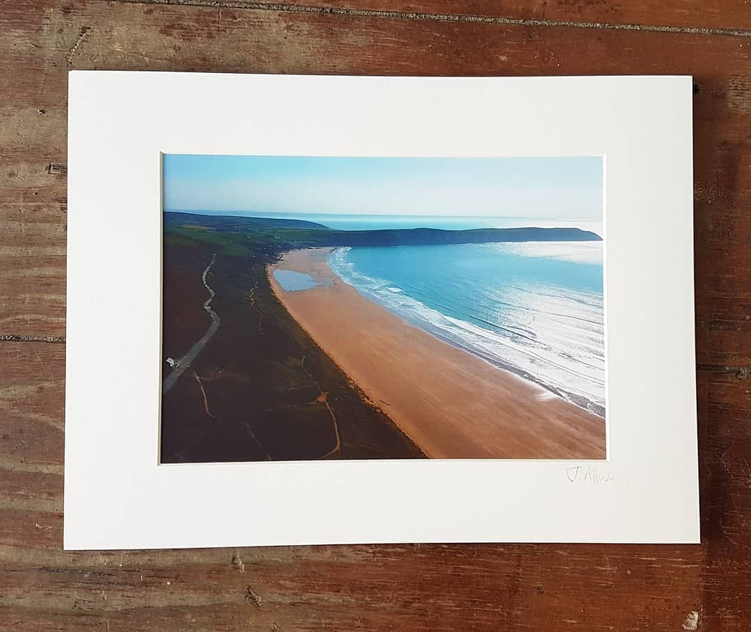 Aerial photographic print of Woolacombe beach to Putsborough