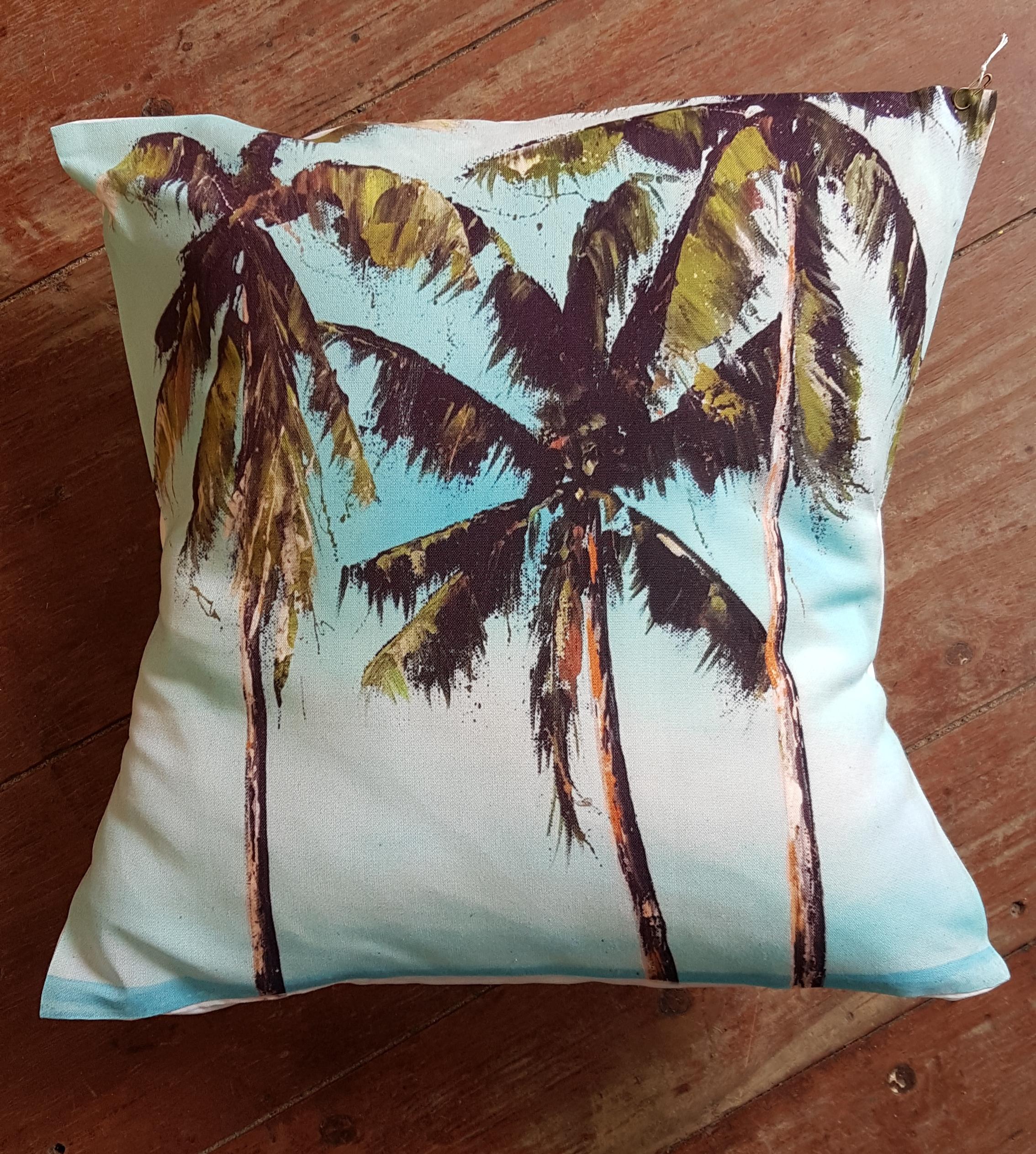 Cushion. Palm trees