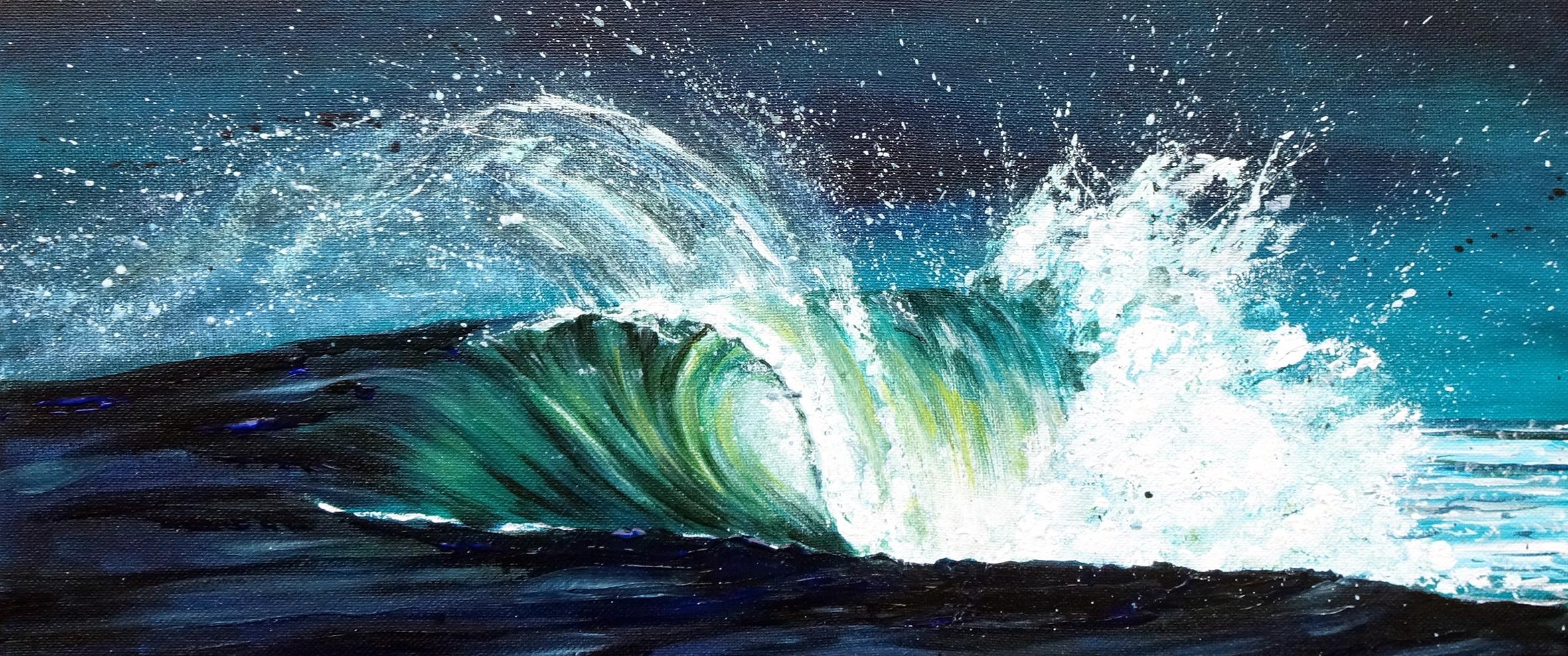 Breaking Wave panoramic art print