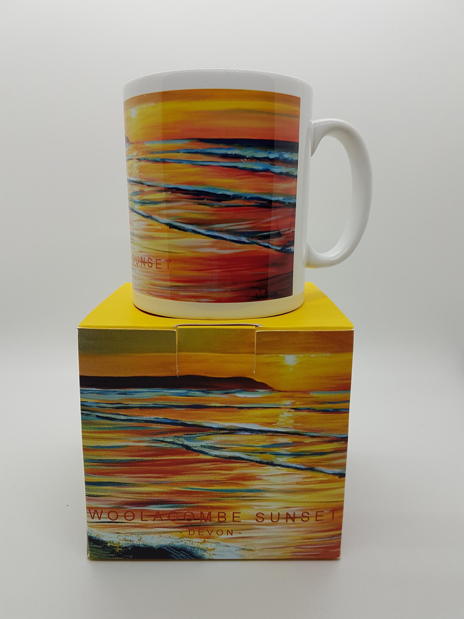 Mug featuring Woolacombe sunset