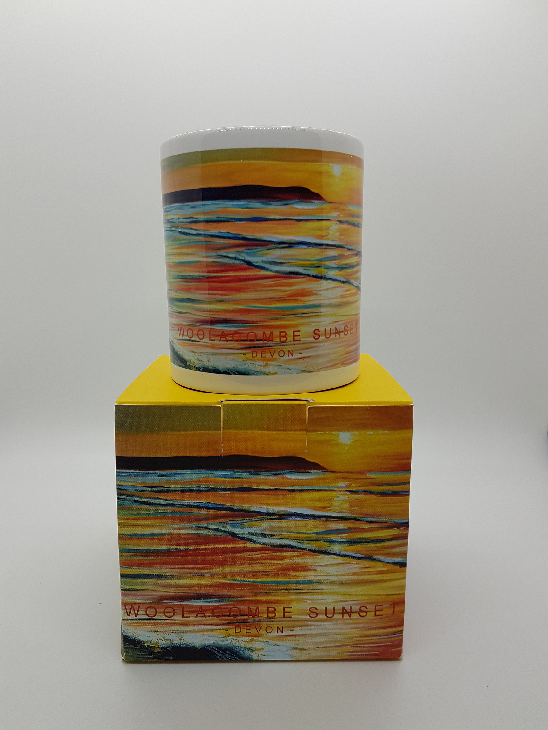 Mug featuring Woolacombe sunset