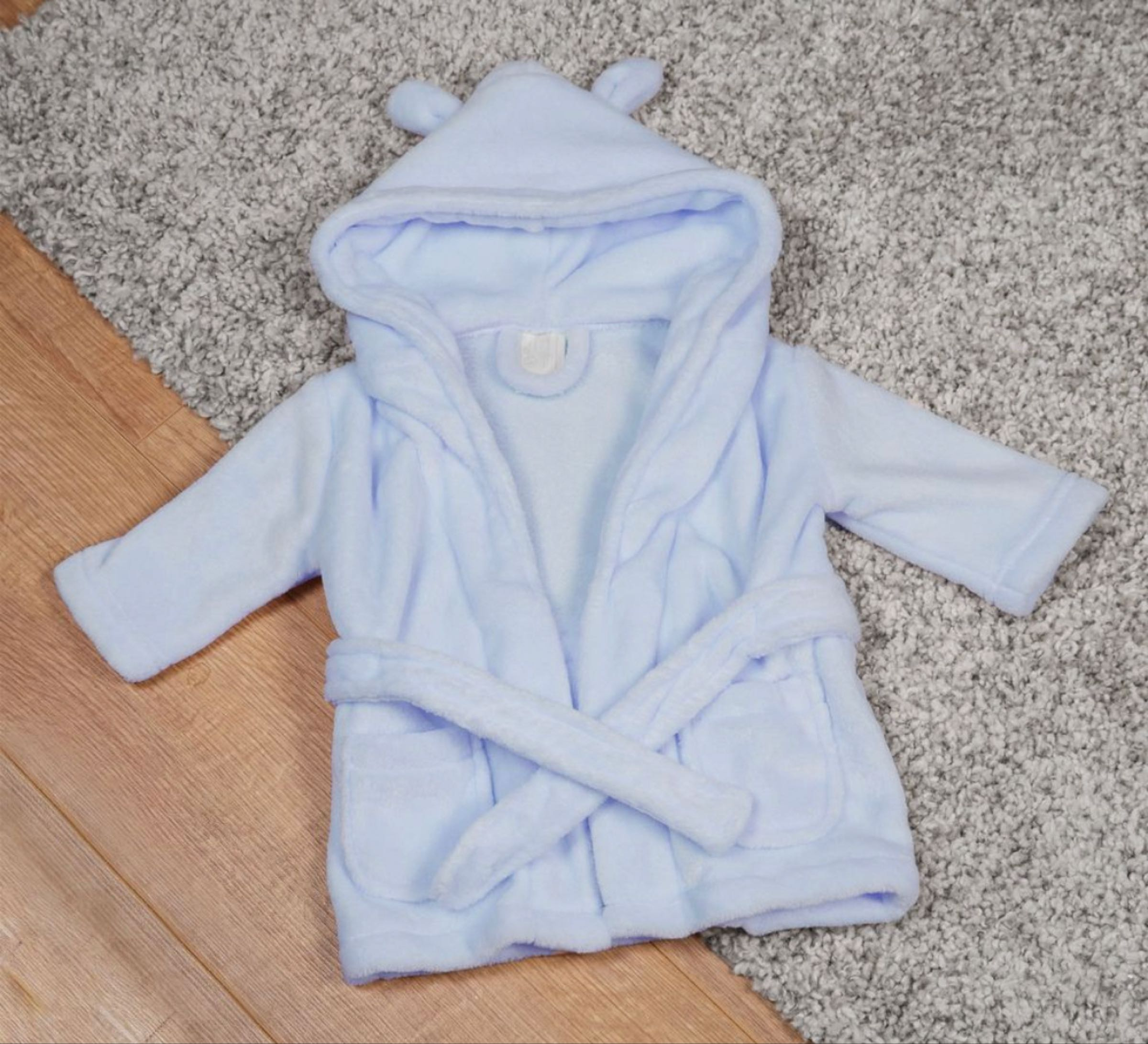Bambino Baby's First Dressing Gown  Blue 3-6 months  in gift box
