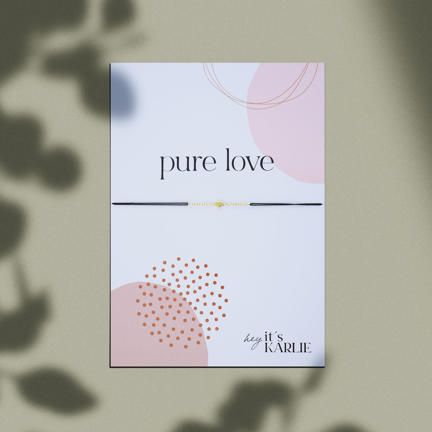 Pure Love X Armband Gold