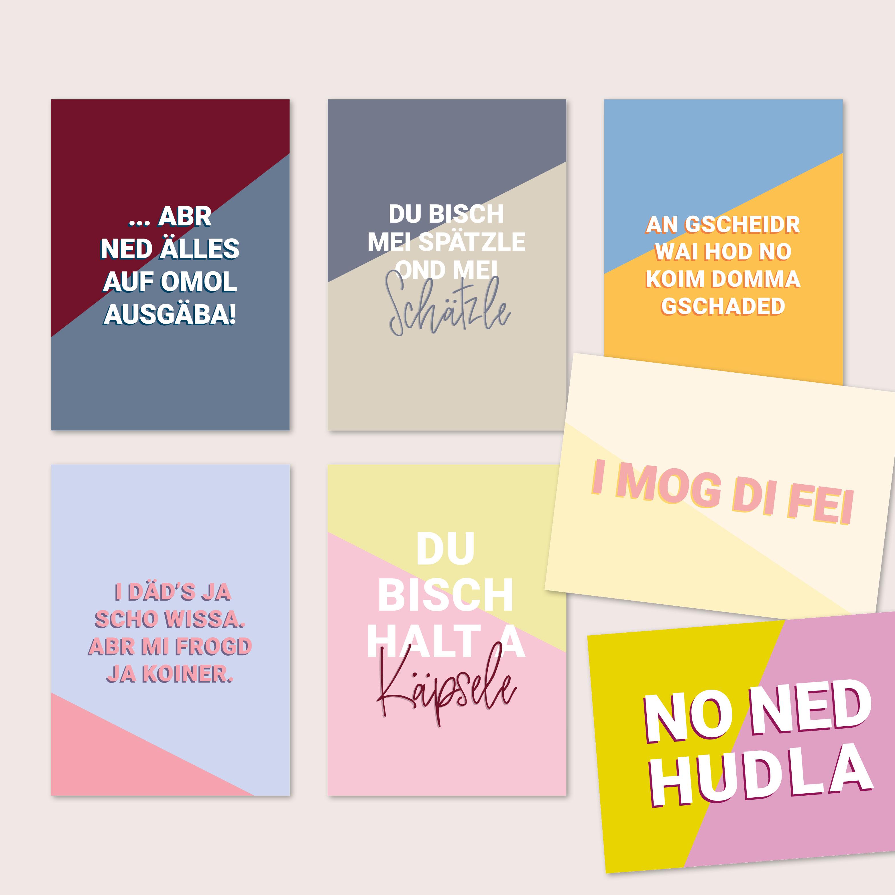 Schwäbische Postkarten 28er Set