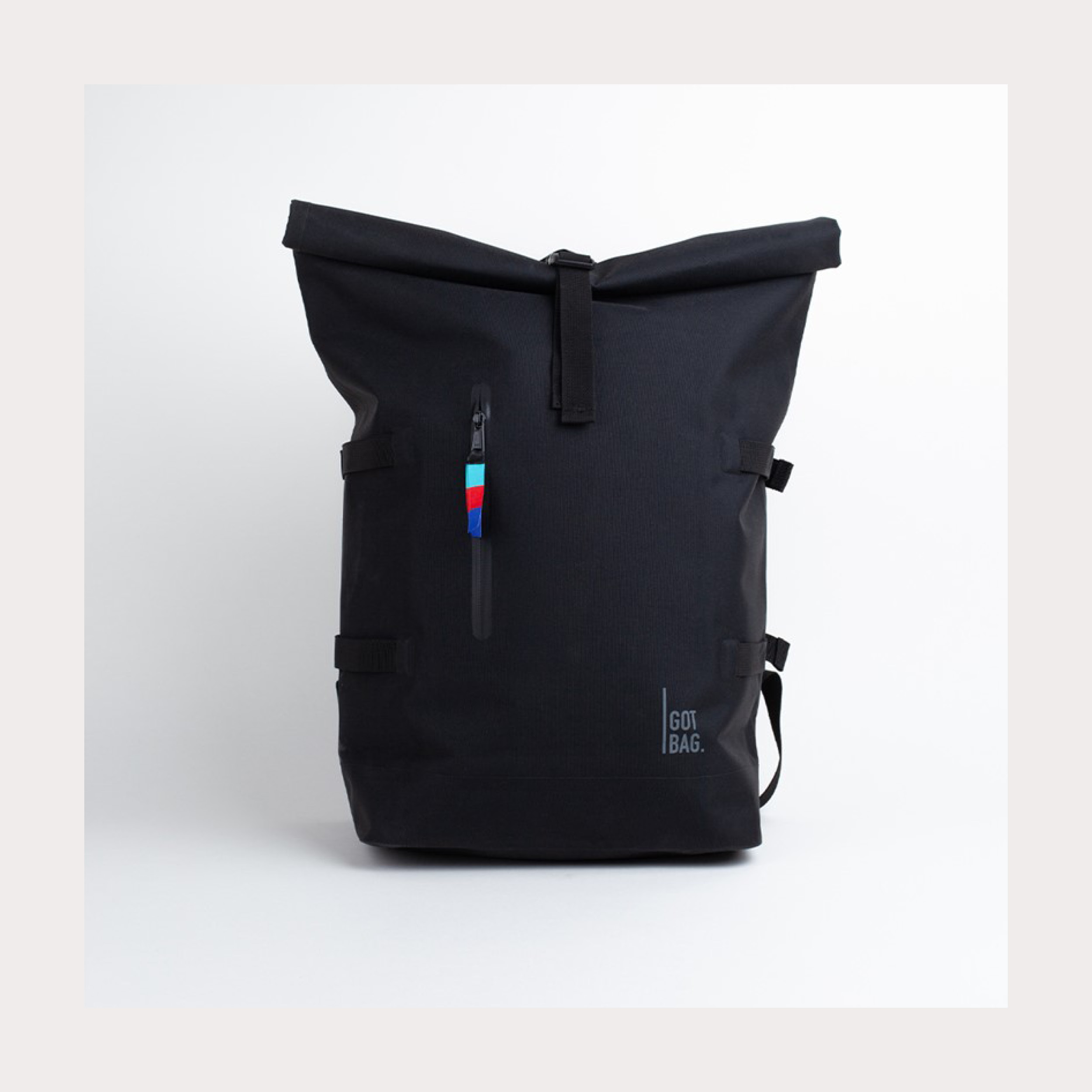 Got Bag X Black Roll Top Rucksack
