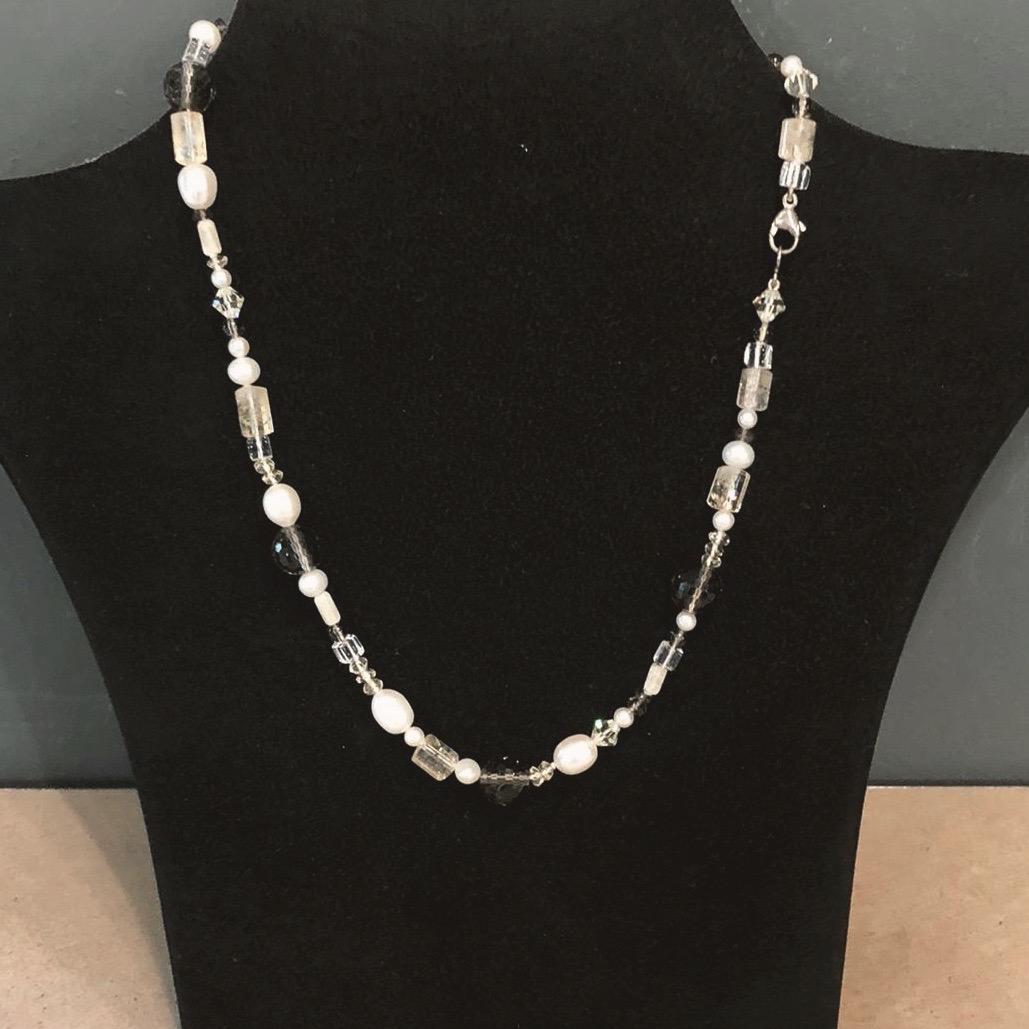 Dreierlei X Perlenkette Fluorit