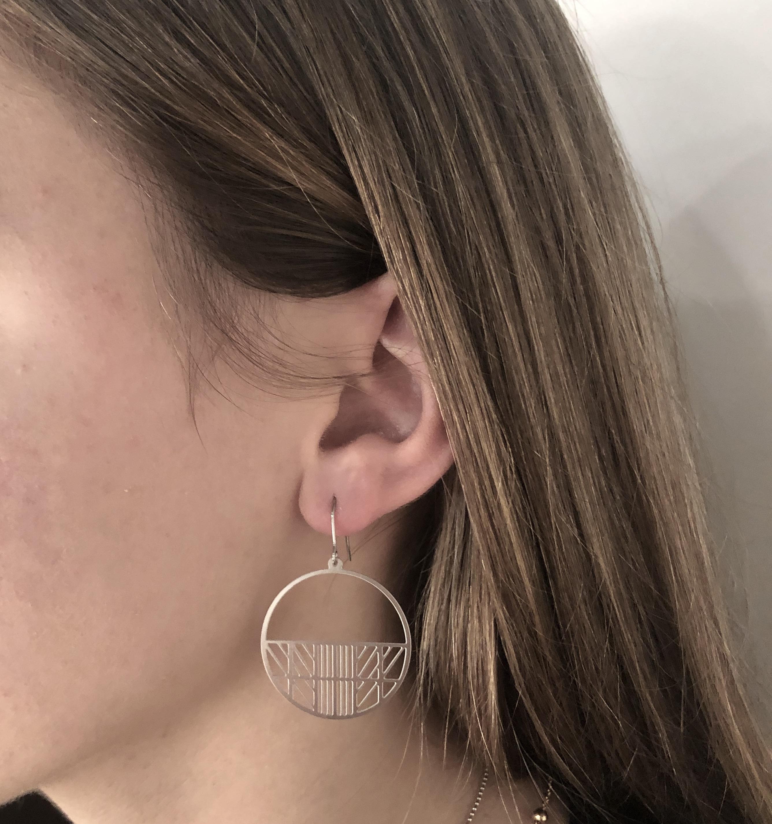 Frl. Schatz X Grafische Ohrringe
