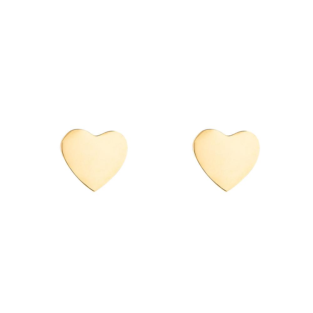 Mace X Goldene Ohrstecker Herz