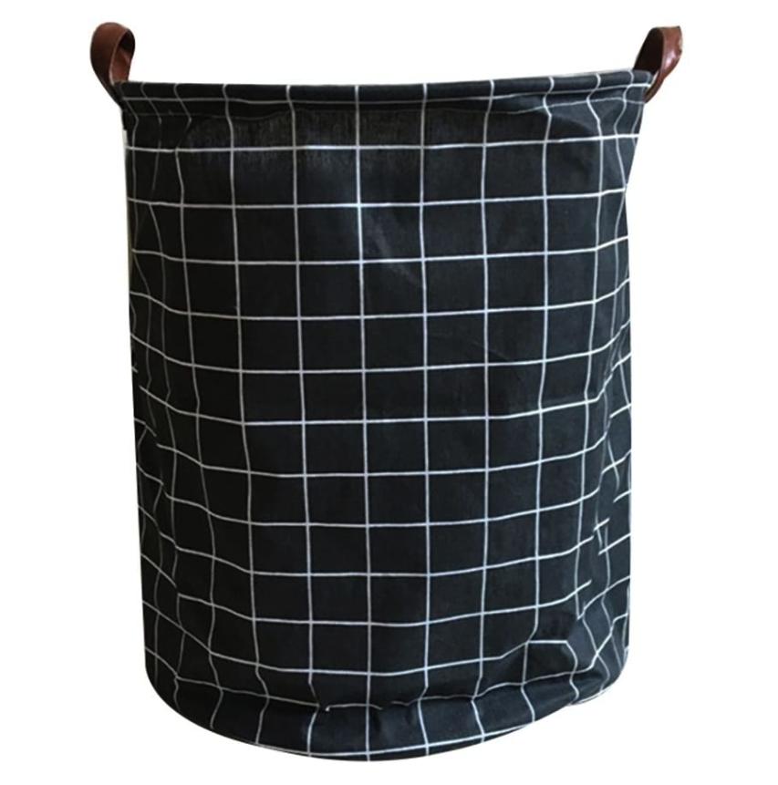 DekoLiebe X Textilkorb Karo auf Schwarz