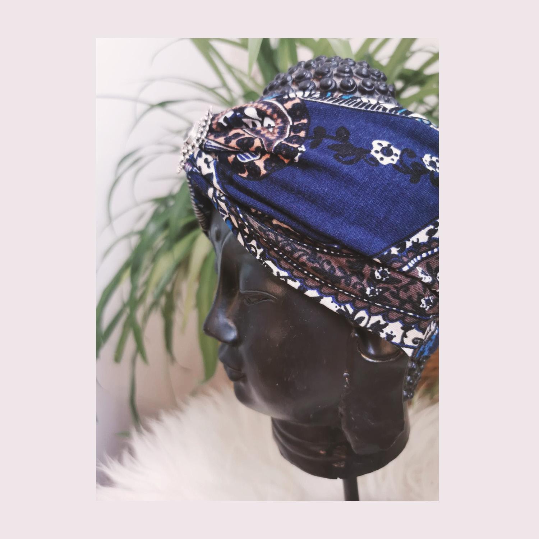 Bohia X Stirnband 11 Paisley Dark Blue