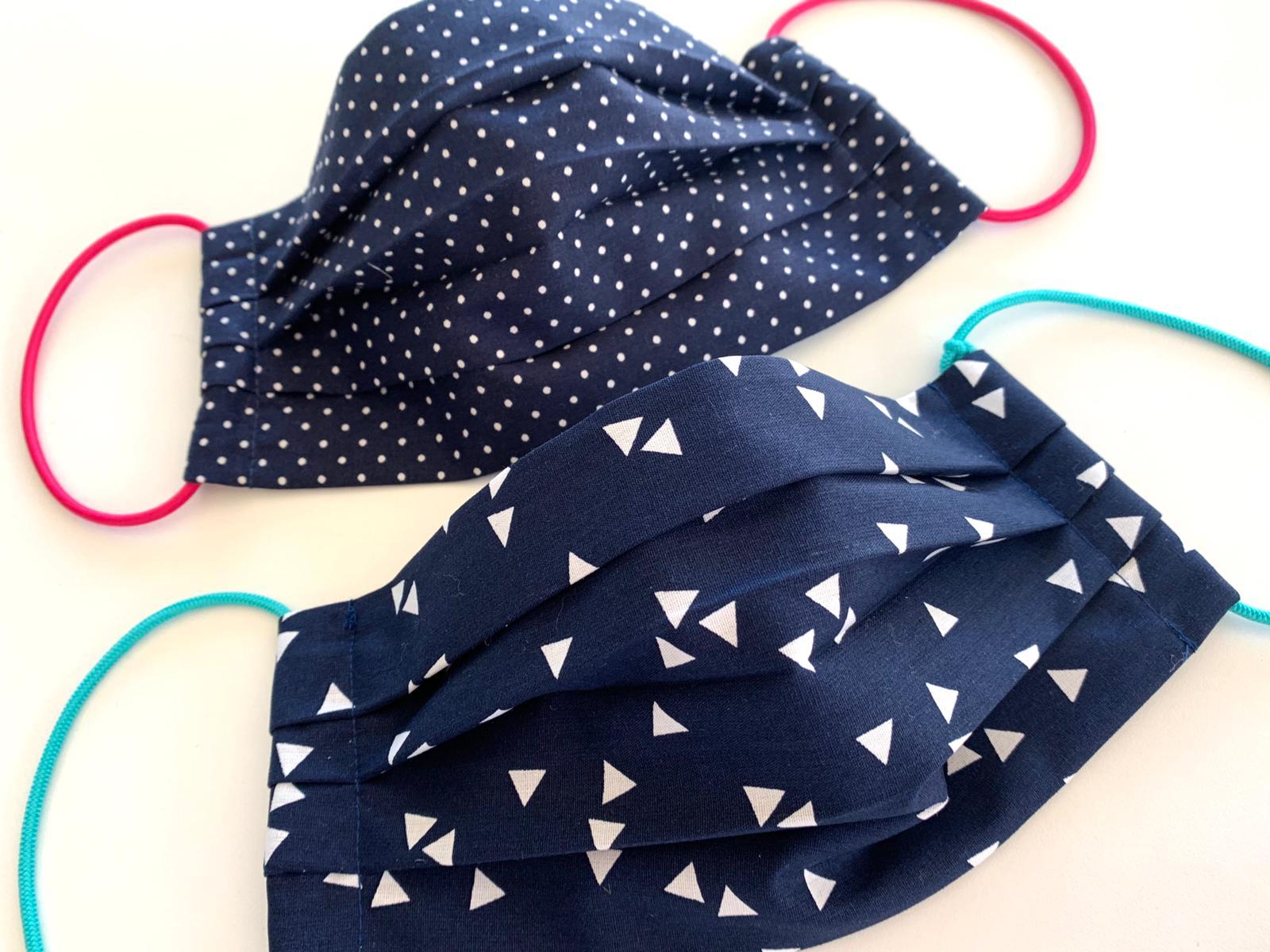 CoverUp X Blau Kleine Punkte oder Dreieck