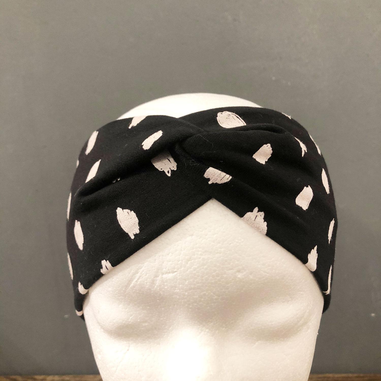 Braunbergh X Stirnband Schwarz-Weiß