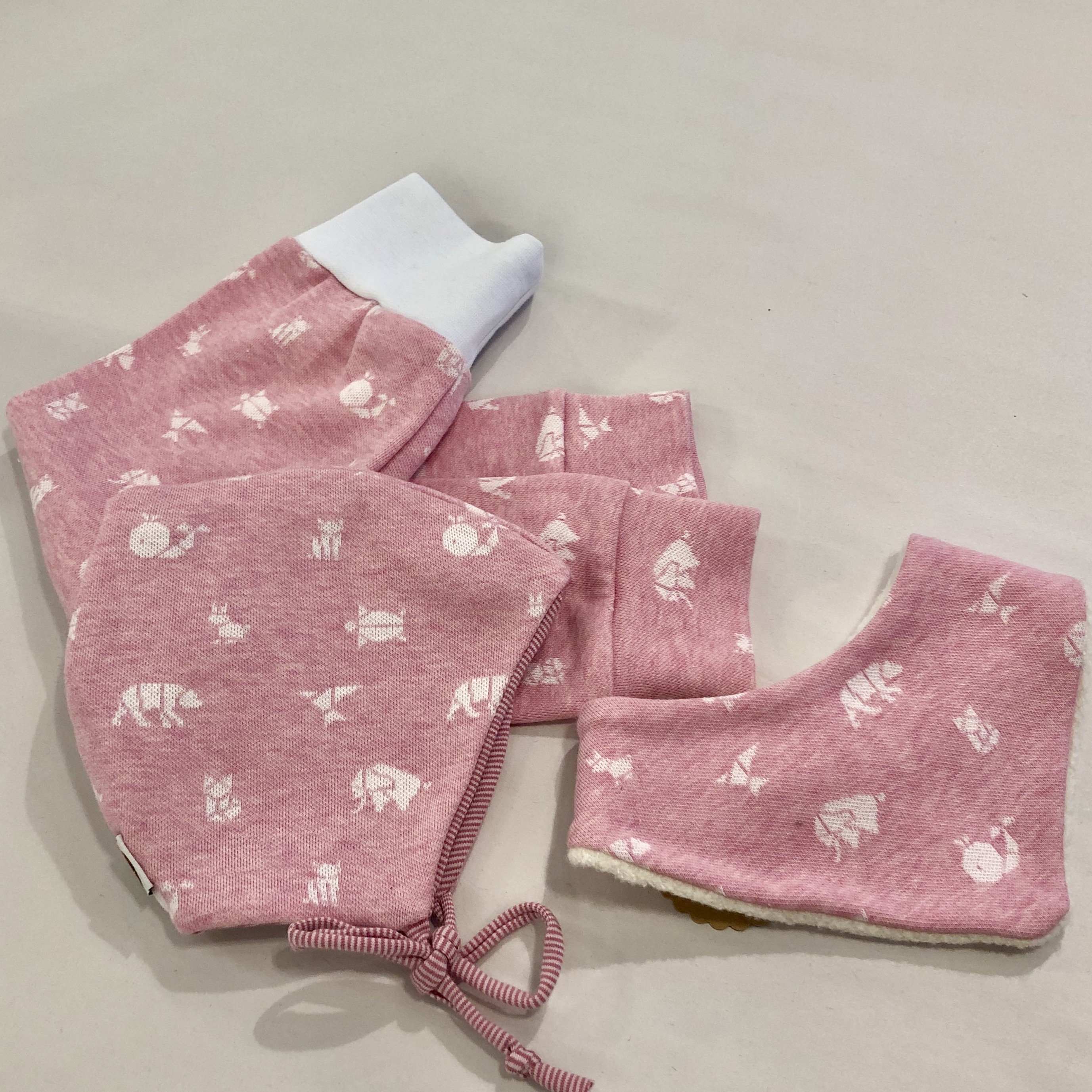Einzelstück X 8-Baby-Set Origami Rosa