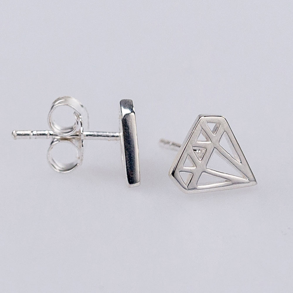 Sonni&Char X Ohrstecker Diamond Silber
