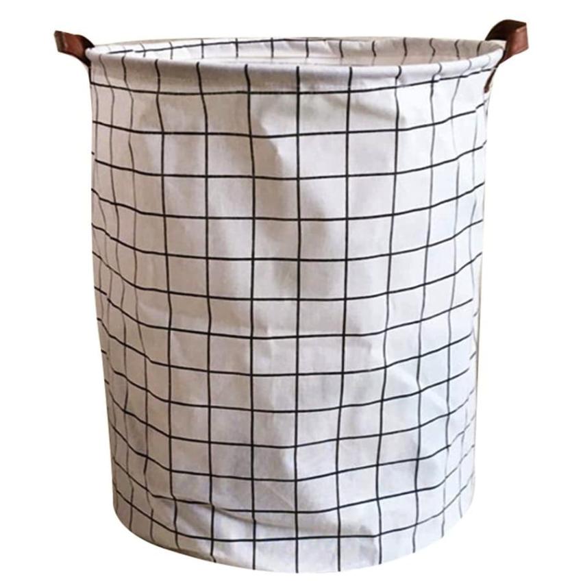 Textilkorb X Karo auf Weiß