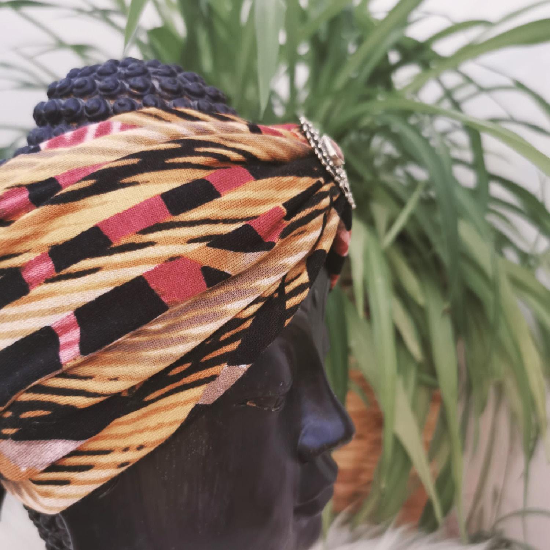 Bohia X Stirnband 14 Pattern Yellow-Red