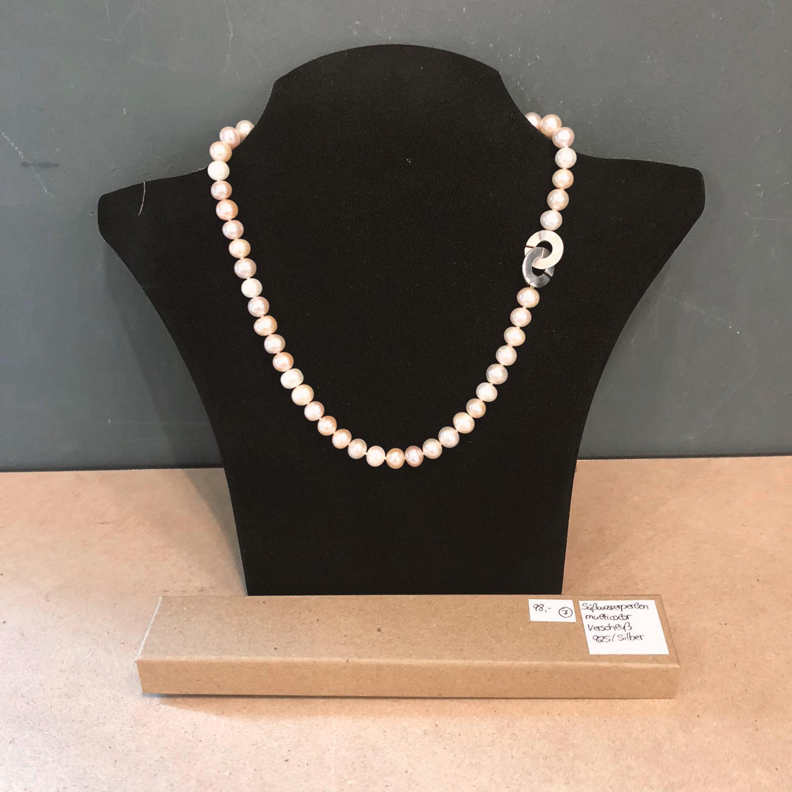 Dreierlei X Perlenkette Multicolor