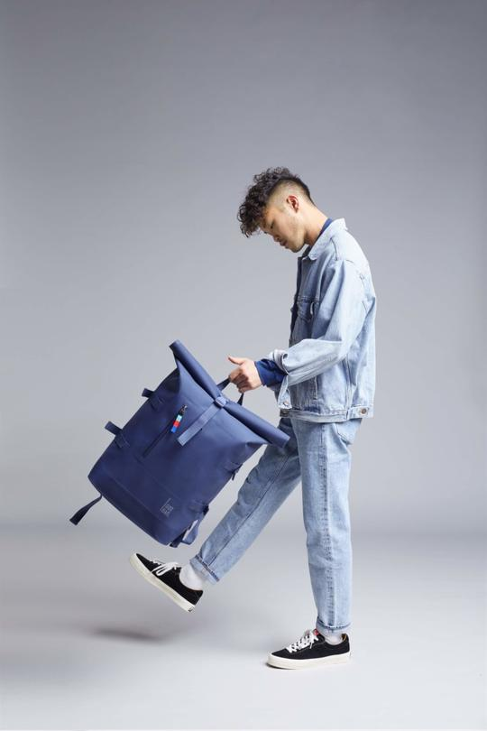 Got Bag X Ocean Blue Roll Top Rucksack